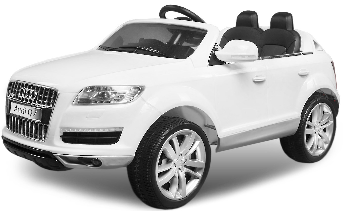 voiture lectrique enfant audi q7 blanc. Black Bedroom Furniture Sets. Home Design Ideas