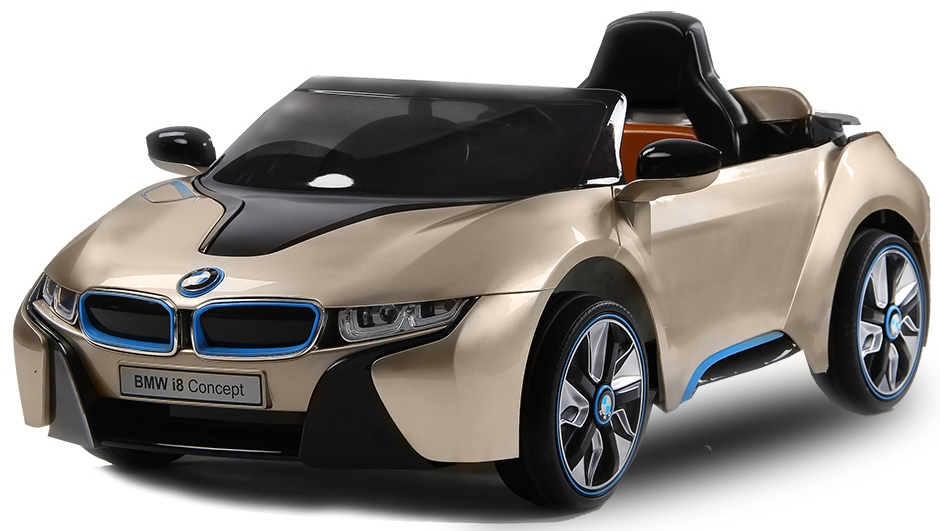voiture lectrique enfant bmw i8 or. Black Bedroom Furniture Sets. Home Design Ideas