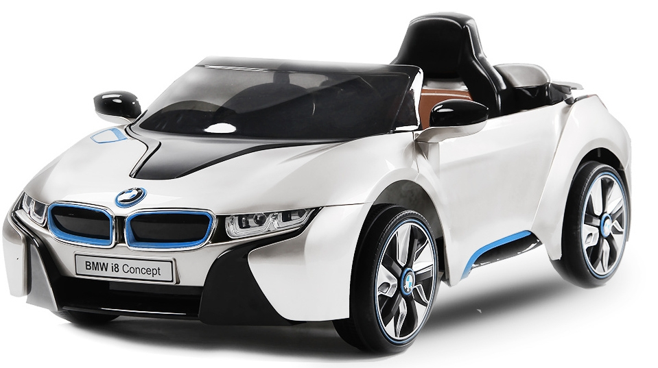 voiture lectrique enfant bmw i8 blanc. Black Bedroom Furniture Sets. Home Design Ideas