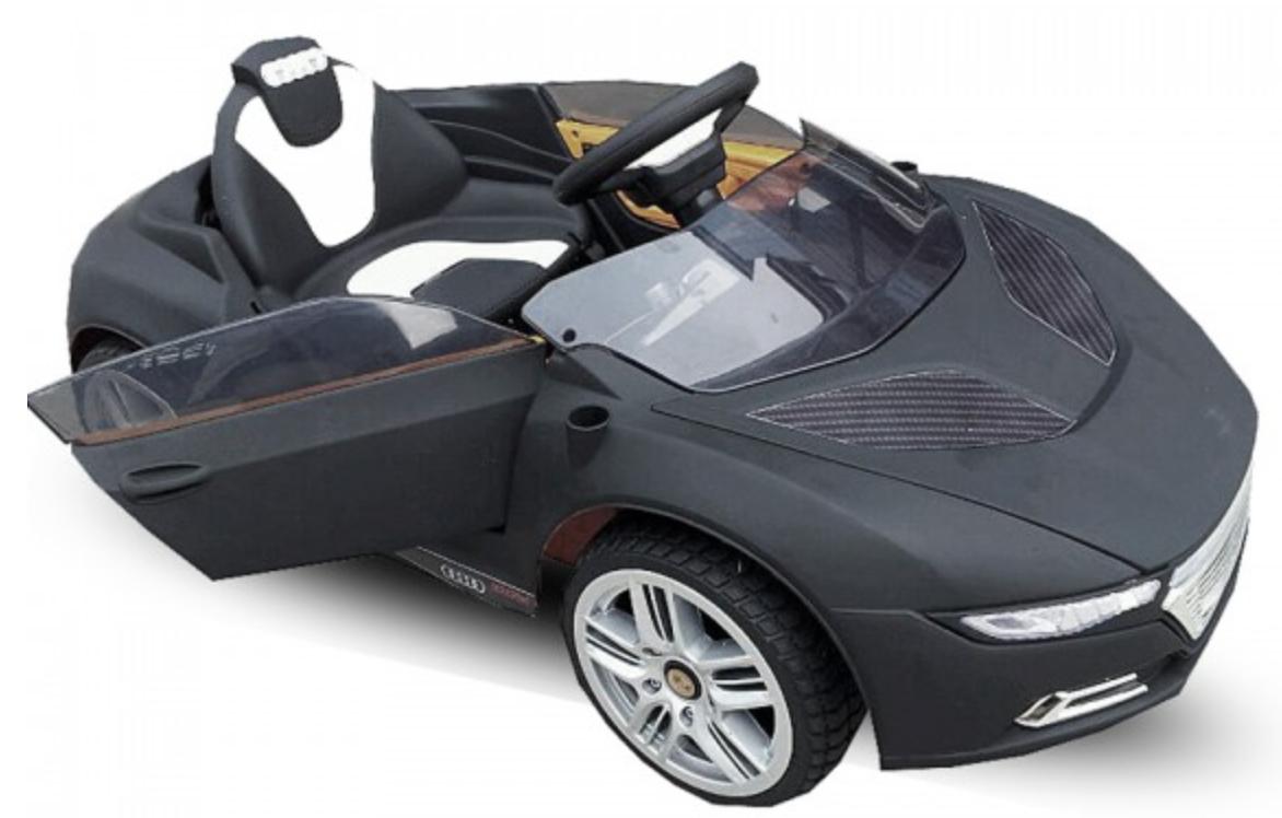 voiture lectrique enfant roadster noir. Black Bedroom Furniture Sets. Home Design Ideas