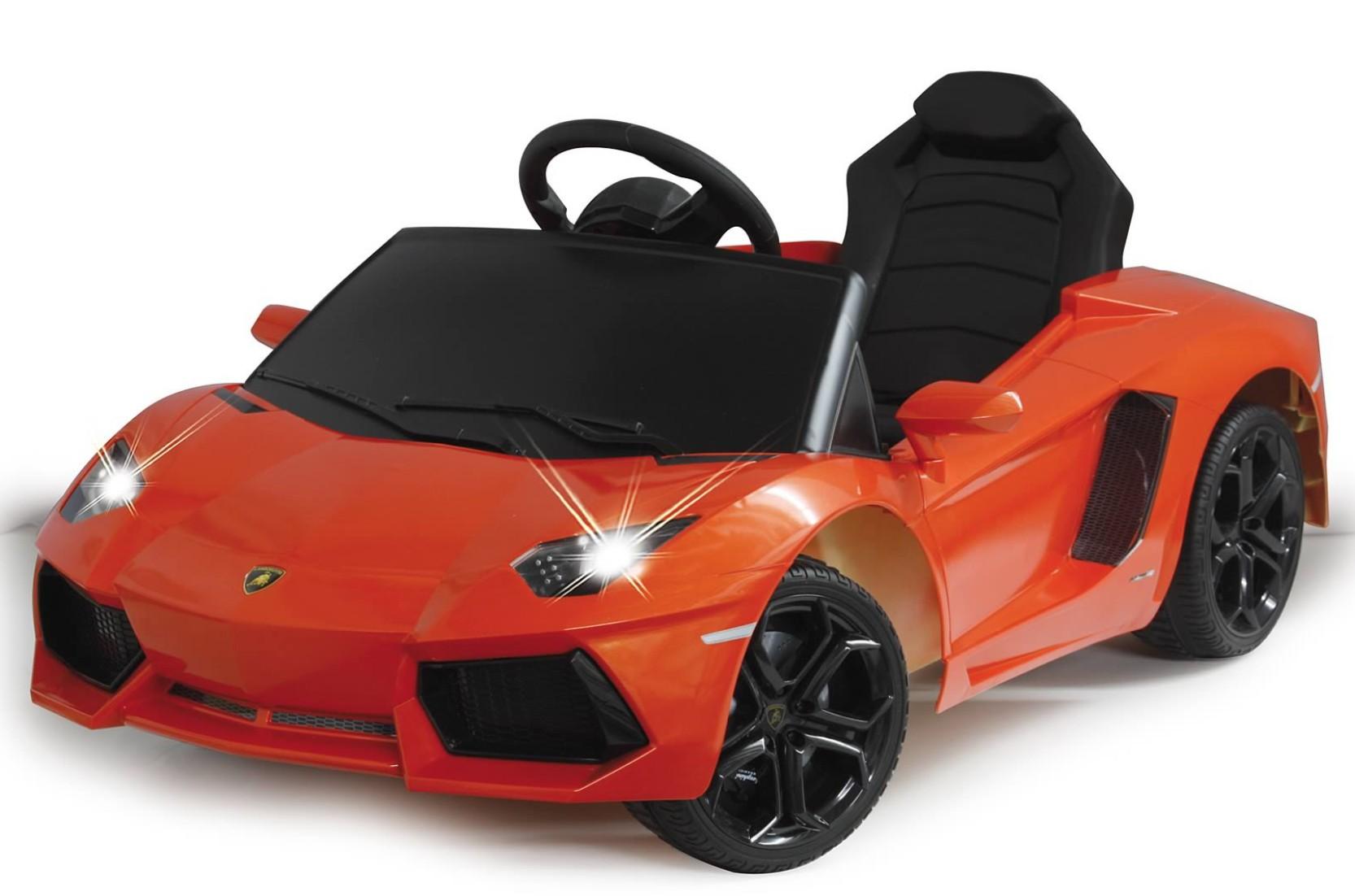 voiture lectrique lamborghini aventador orange 2x25w 12v. Black Bedroom Furniture Sets. Home Design Ideas