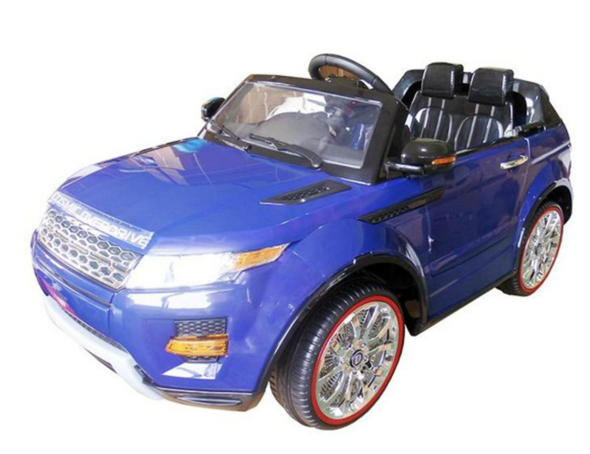 voiture lectrique land rover evoque 2x35w bleu. Black Bedroom Furniture Sets. Home Design Ideas