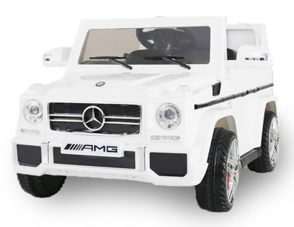 voiture lectrique mercedes g55 amg blanc. Black Bedroom Furniture Sets. Home Design Ideas