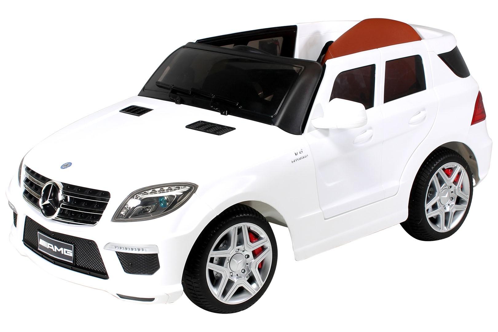 voiture lectrique mercedes ml63 amg 2x35w 12v blanc. Black Bedroom Furniture Sets. Home Design Ideas
