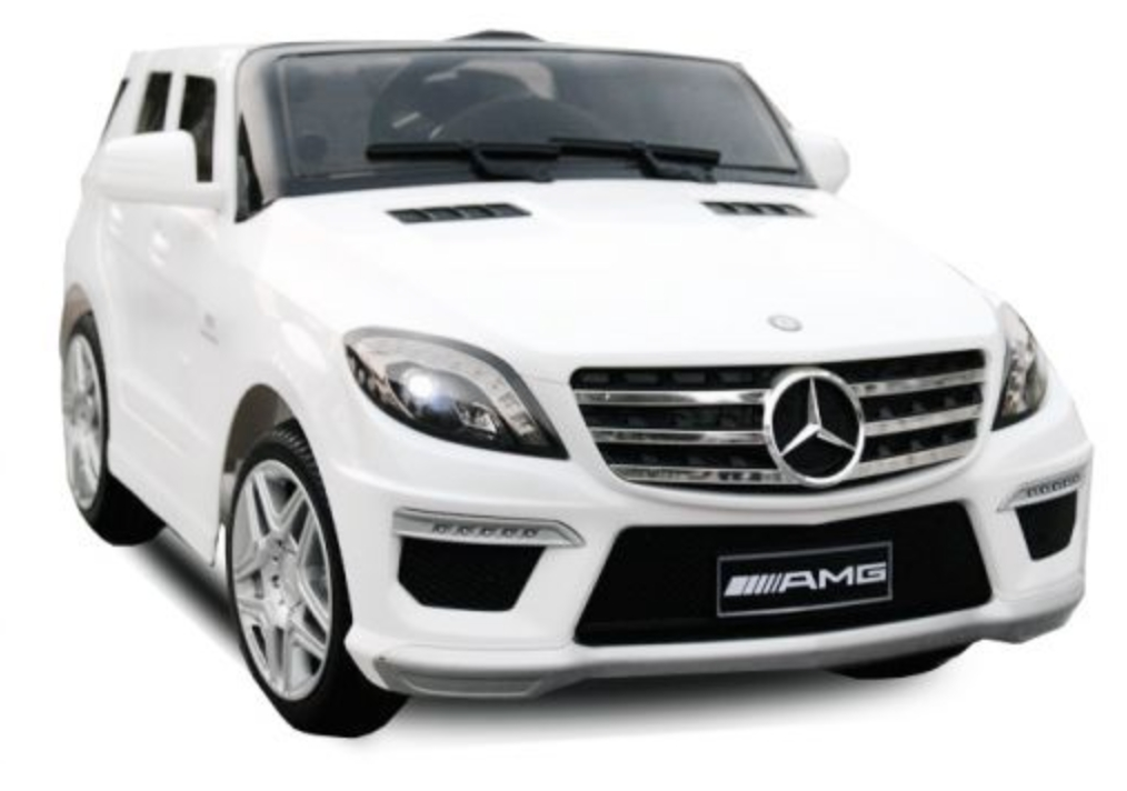 voiture lectrique mercedes ml63 amg 2x35w 12v blanc. Black Bedroom Furniture Sets. Home Design Ideas