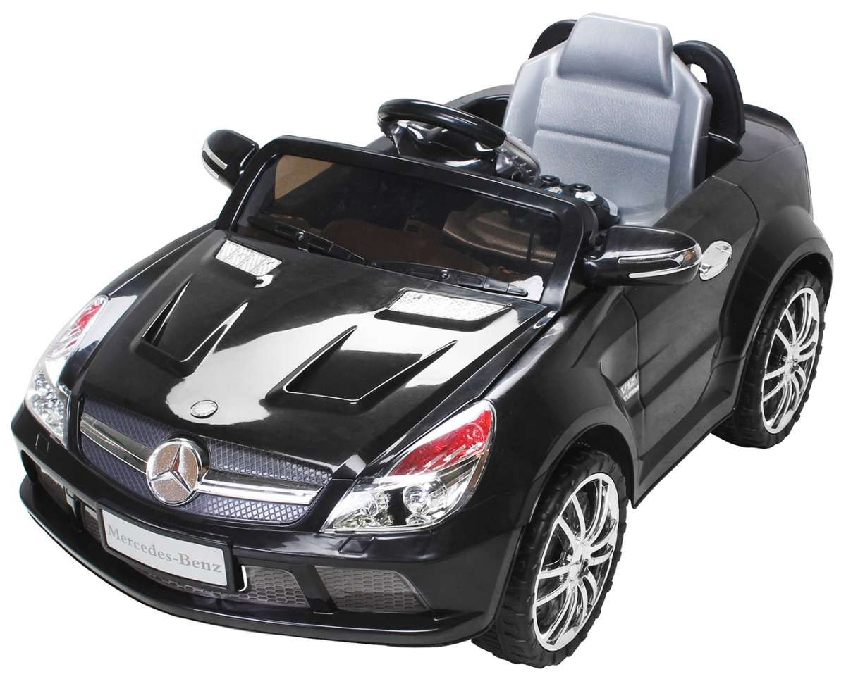 voiture lectrique mercedes sl65 noir. Black Bedroom Furniture Sets. Home Design Ideas