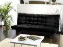 Matelas noir pour banquette futon 135x190cm - Matelas futon pour clic clac ...
