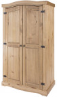 Armoire 2 portes pin massif clair Divina