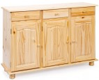 Buffet 3 portes 3 tiroirs pin massif naturel Provencia