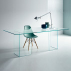 Bureau design verre transparent Hasmi