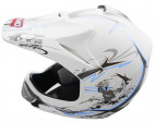 Casque enfant de cross blanc mat Full sport
