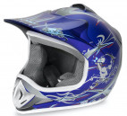 Casque enfant de cross bleu brillant Full sport