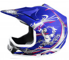 Casque enfant de cross bleu mat Full sport