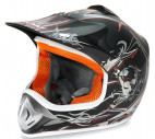 Casque enfant de cross noir brillant Full sport