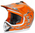 Casque enfant de cross orange brillant Full sport