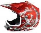 Casque enfant de cross rouge mat Full sport