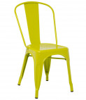 Chaise industrielle acier brillant vert anis Kontoir