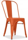 Chaise métal mat orange Square