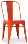 Chaise métal orange brillant inspirée Xavier Pauchard