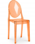 Chaise transparente orange Elisabeth