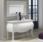Commode 2 tiroirs design blanc brillant Marsus