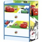 Commode bleue 4 tiroirs Cars