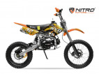 Dirt bike 125cc NXD 17/14 boite mécanique 4 temps e-start orange