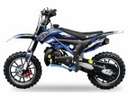 Dirt Bike 49cc Cheetah deluxe 10/10 e-start bleu laqué