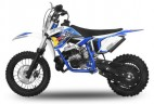 Dirt Bike 49cc NRG 12/10 9cv Kick starter automatique bleu