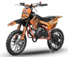 Dirt bike 49cc Serval 10/10 automatique orange