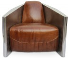 Fauteuil cuir marron Churchill Lounge