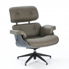 Fauteuil cuir taupe Siara