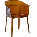 Fauteuil original transparent Marron