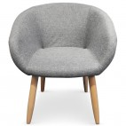 Fauteuil Tissu Gris Fast