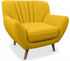 Fauteuil tissu jaune Nordy