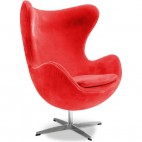 Fauteuil tissu rouge Ego