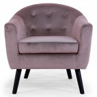 Fauteuil velours rose Soxford