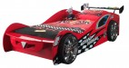 Lit voiture Racing rouge lumineux