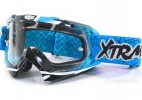Lunette Moto cross Racing Bleu