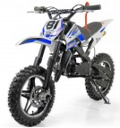 Mini Moto Cross Pocket 50cc 2T Bleu Grande roue