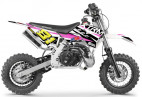Moto cross 50cc 2T rose 3.5 cv Falko 10/10