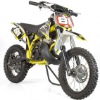 Moto cross automatique 50cc Sporty 14/12 3,5cv Kick starter jaune