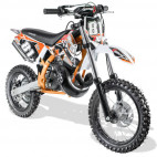 Moto cross automatique 50cc Sporty 14/12 3,5cv Kick starter orange