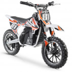 Moto cross électrique 500W MX blanc et orange