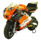 Moto Pocket piste Racing 50cc Orange