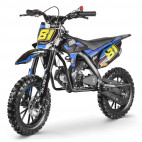 MX Storm 50cc bleu moto cross enfant