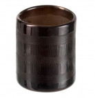 Photophore verre marron Narsh 8 cm - Lot de 8