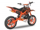 Pocket bike cross thermique 49cc 10/10 e-start orange