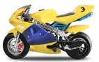 Pocket Bike Racing PS88 49cc Bleu Jaune