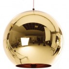 Lampe suspension boule doré inspiré Tom Doyle D 25 cm